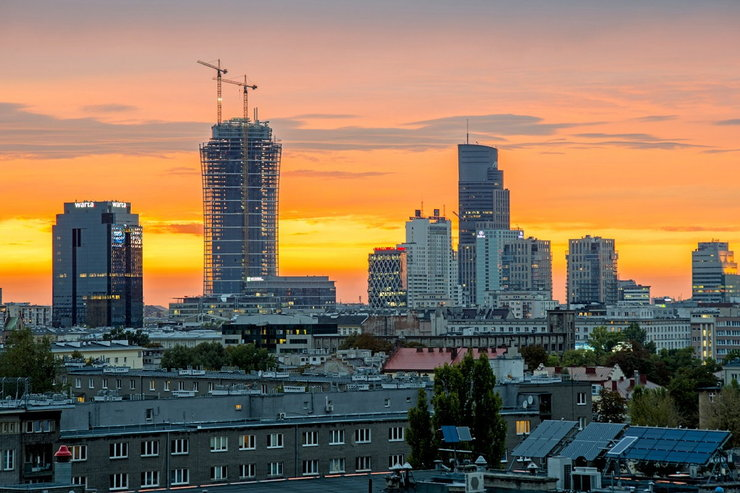 Warsaw Spire - panorama