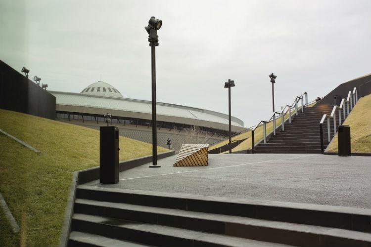Międzynarodowe Centrum Kongresowe z widokiem na katowicki spodek