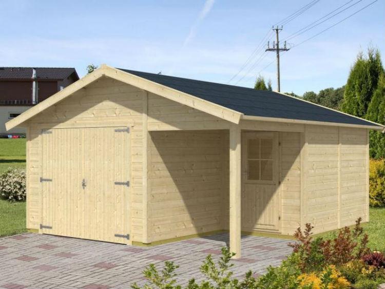 Przykład garażu drewnianego