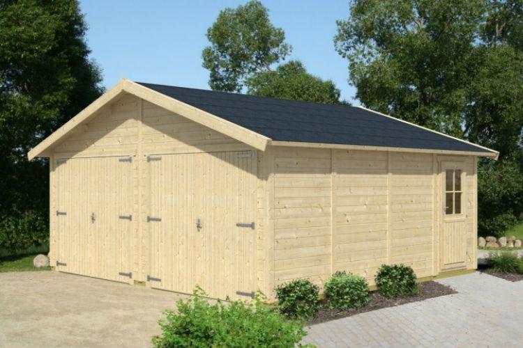 Garaże drewniane przykład